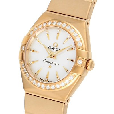 Omega Constellation 18ct Gold Quartz Ladies Watch 123 55